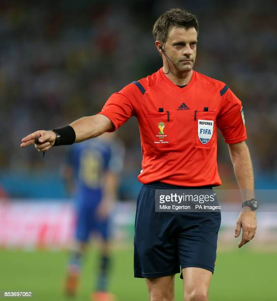 Match referee Nicola Rizzoli during the FIFA World Cup Final at the Estadio do Maracana Rio de Janerio Brazil
