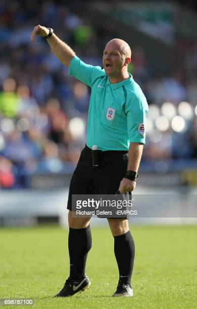 Match referee Simon Hooper
