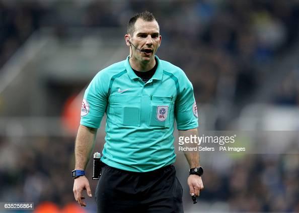 Match referee Tim Robinson