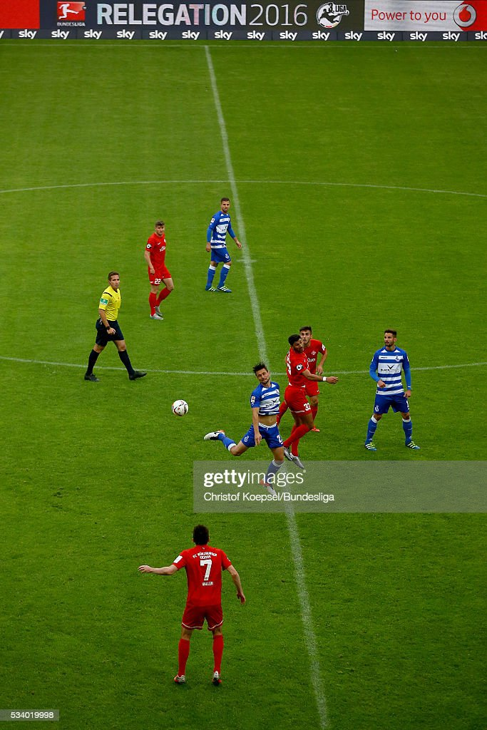 A match scenery during the Second Bundesliga play-off second leg match between MSV Duisburg and Wuerzburger Kickers at Schauinsland-Reisen-Arena on May 24, 2016 in Duisburg, Germany.