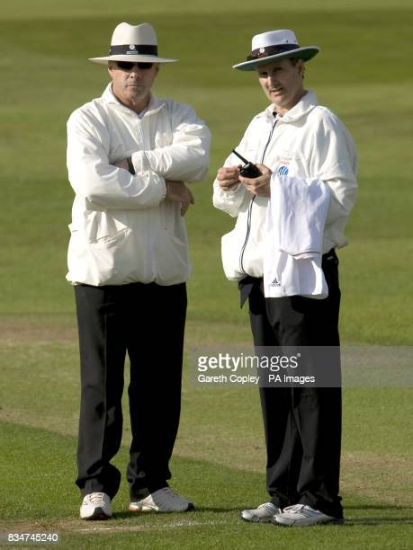 Match Umpires Billy Bowden and Daryl Harper during the Second npower Test match at Headingley Cricket Ground Leeds