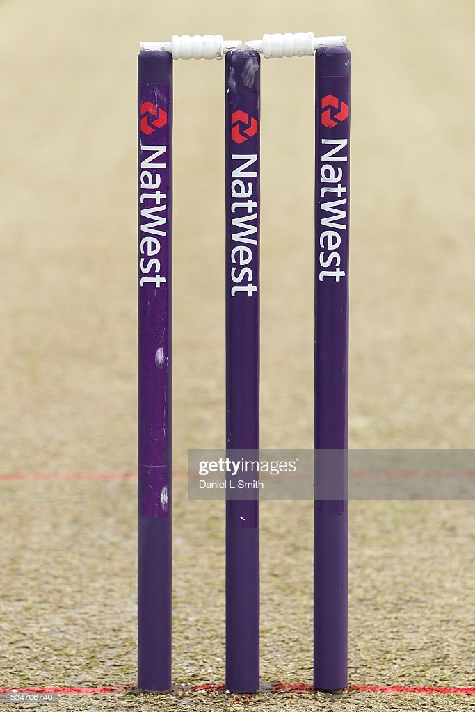 Match wickets prior to the NatWest T20 Blast match between Yorkshire and Leicestershire at Headingley on May 27, 2016 in Leeds, England.