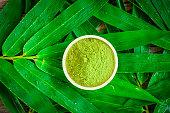 green tea and green tea powder