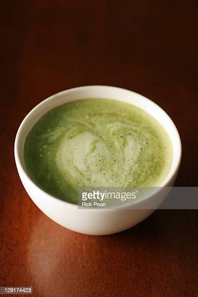 Matcha japanese powdered green tea latte