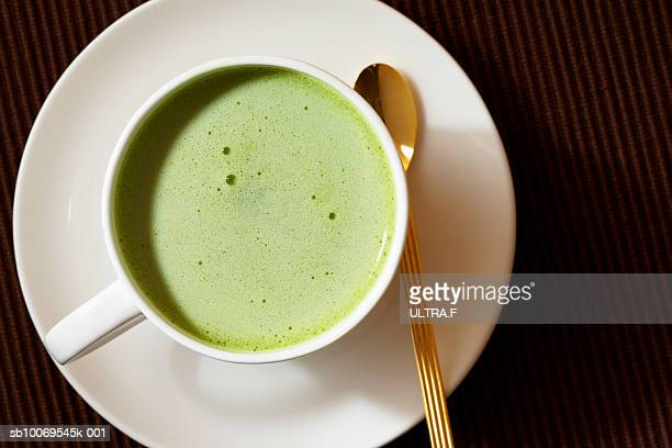 Matcha (Japanese powdered green tea) latte