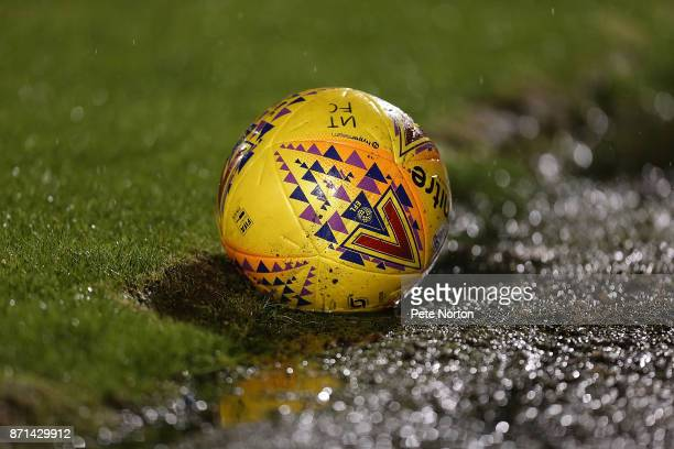 A matchball during the Checkatrade Trophy match between Northampton Town and Southampton U23 at Sixfields on November 7 2017 in Northampton England