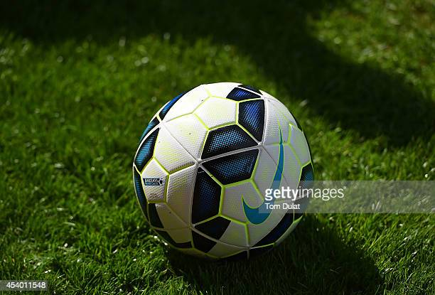 A matchball during the Premiere League match between Crystal Palace and West Ham United at Selhurst Park on August 23 2014 in London England