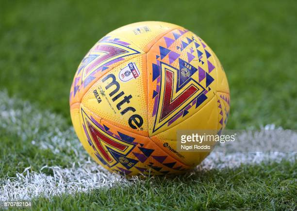 Matchball during the Sky Bet Championship match between Sheffield United and Hull City at Bramall Lane on November 4 2017 in Sheffield England