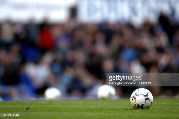 Matchball on the pitch at Goodison Park