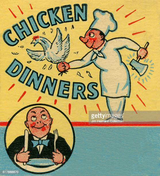 Matchbook image of chef holding chicken