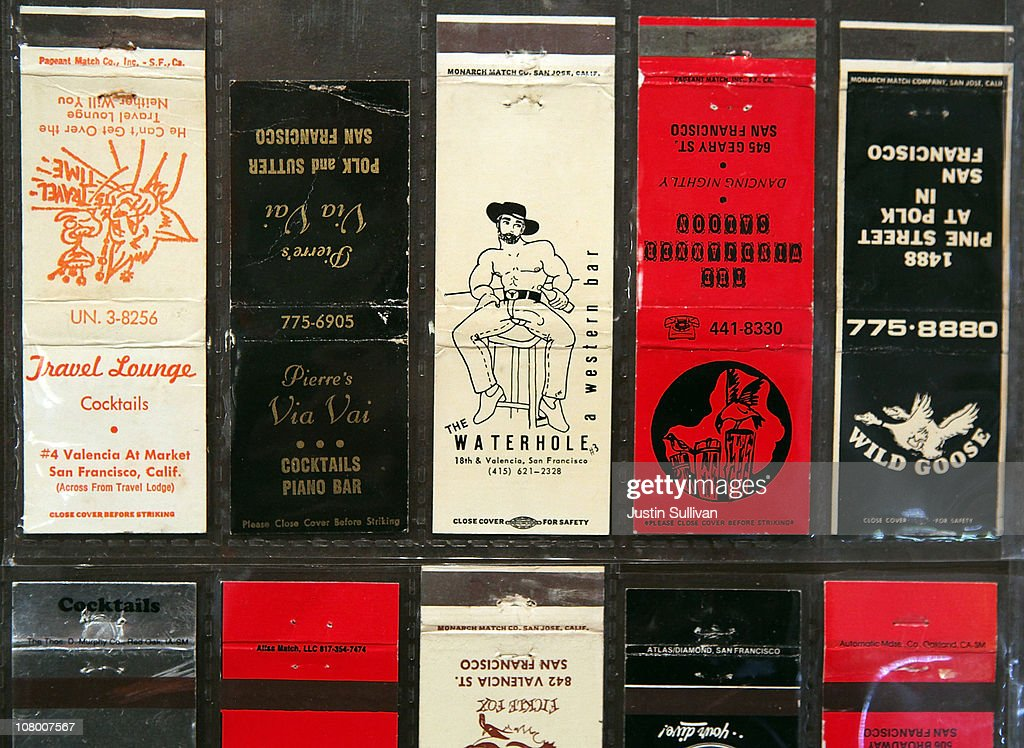 Matchbooks from gay clubs are displayed during the grand opening of the Gay, Lesbian, Bisexual and Transgender History Museum on January 12, 2011 in San Francisco, California. The country's first gay history museum opened in San Francisco's Castro district today and features hundreds of items including Harvey Milk's megaphone, documents, a collection of sex toys and multimedia presentaions.