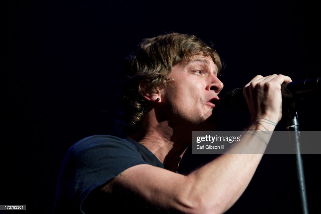 Matchbox 20 and frontman Rob Thomas perform at the Gibson Amphitheatre on July 17, 2013 in Universal City, California.
