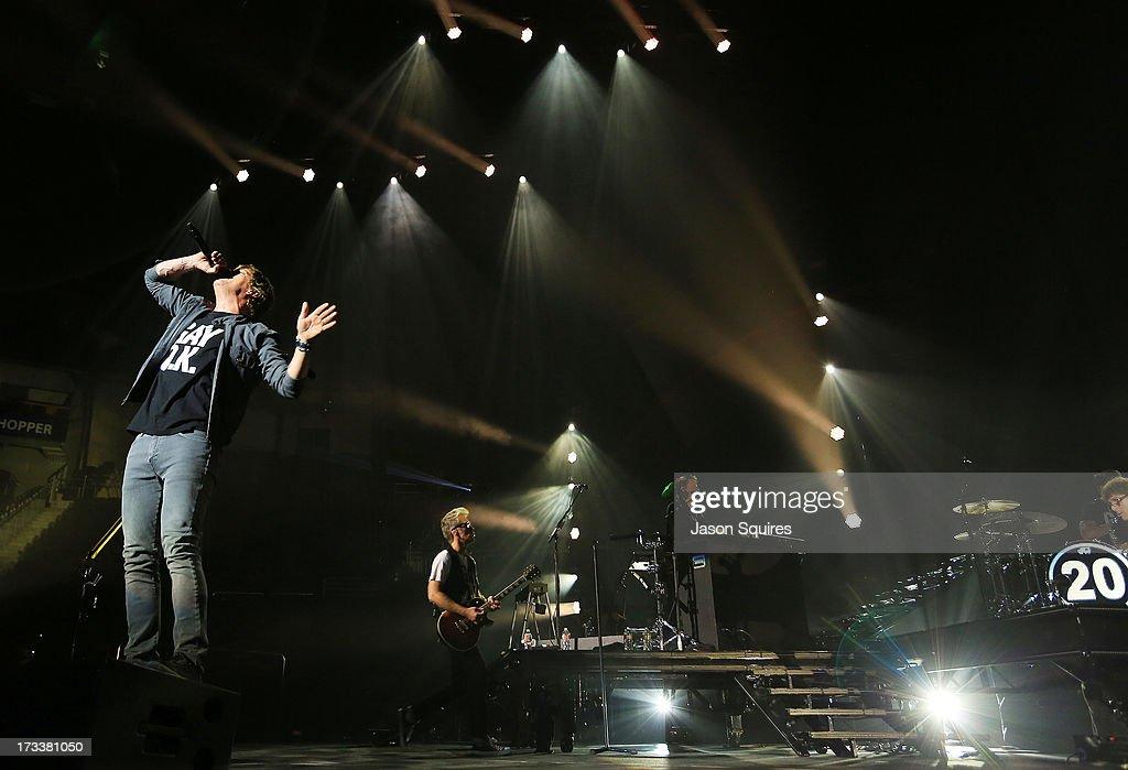 Matchbox 20 performs at Sprint Center on July 12, 2013 in Kansas City, Missouri.