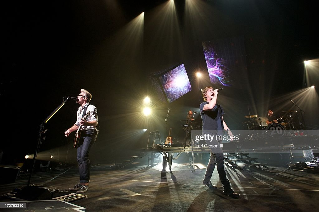 Matchbox 20 performs at the Gibson Amphitheatre on July 17, 2013 in Universal City, California.