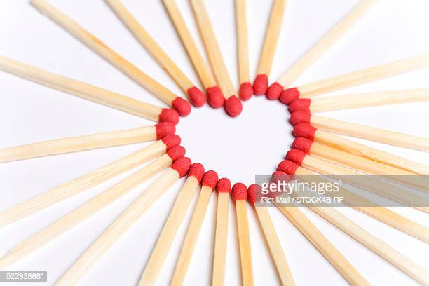 Matches in shape of a heart