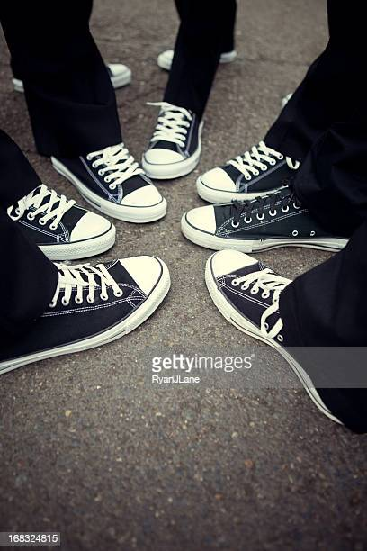 Assorti à la chaussure de Tennis amicale