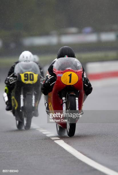 Matchless G50 entrant Fred Walmsley ridden by Glen English in the Barry Sheene Memorial Trophy at Goodwood on September 8th 2017 in Chichester England