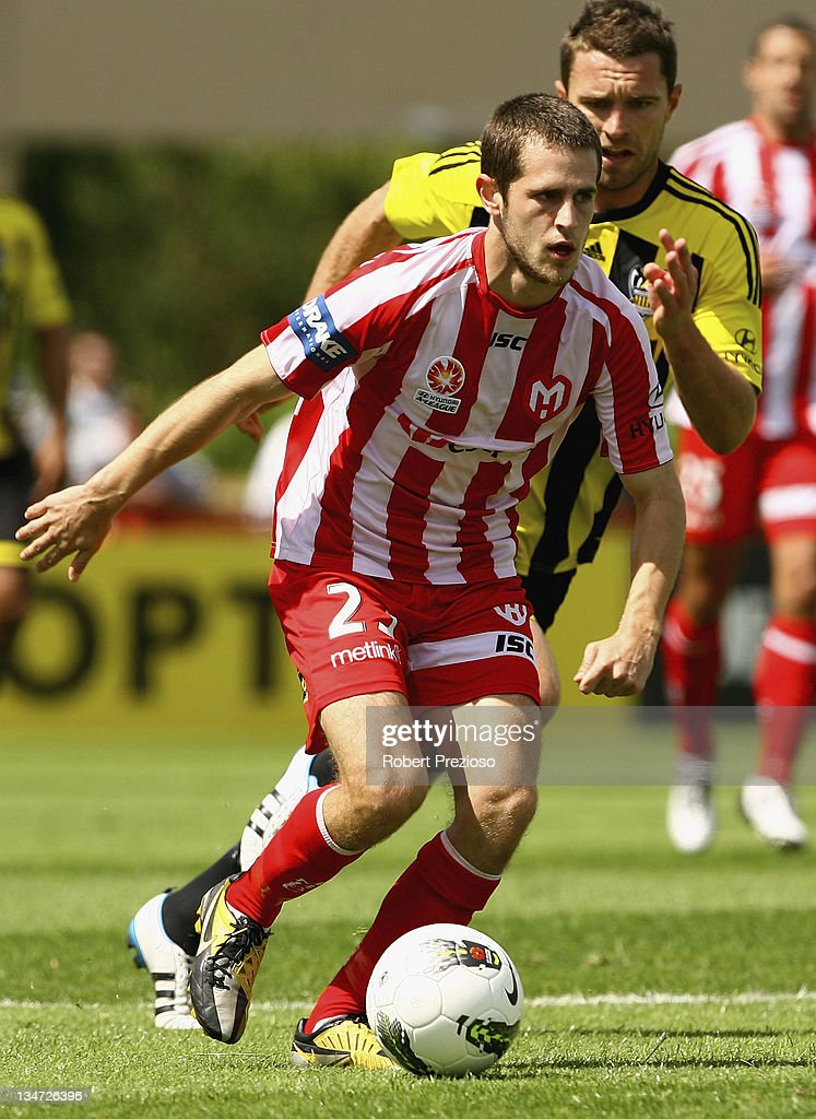 Mate Dugandzic of the Heart controls the ball during the round nine A-League match between the Melbourne Heart and the Wellington Phoenix at Latrobe City Sports & Entertainment Complex on December 4, 2011 in Melbourne, Australia.