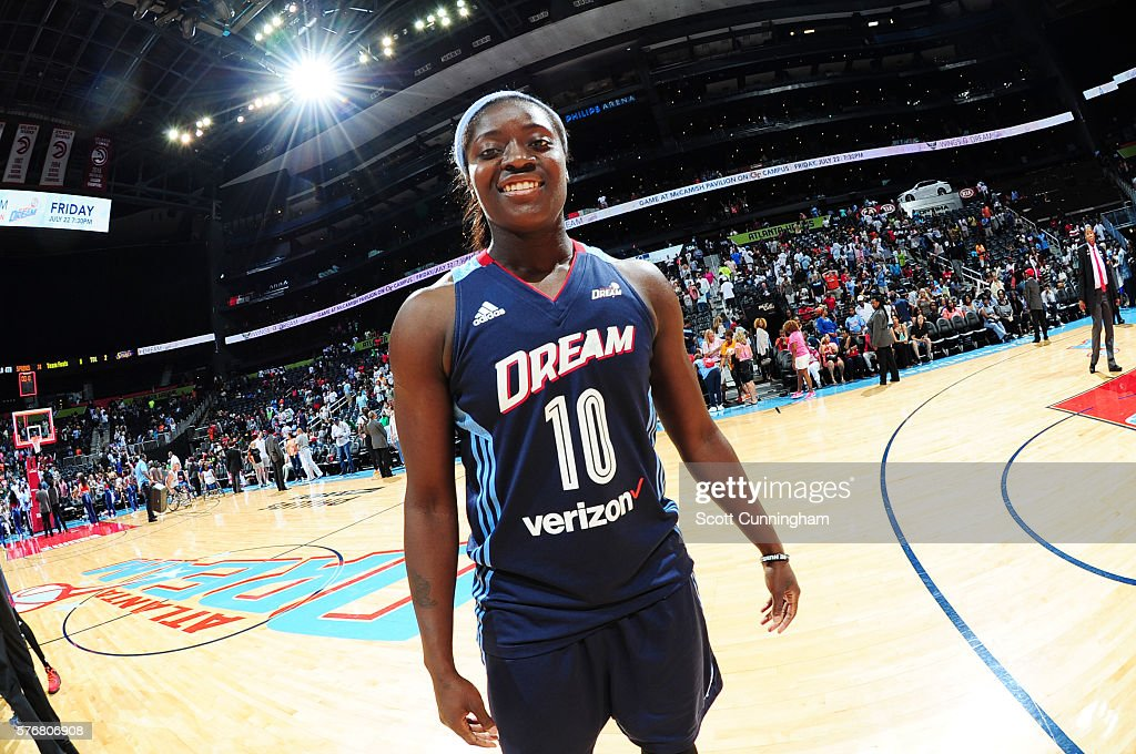 Matee Ajavon of the Atlanta Dream is seen during the game against the Los Angeles Sparks on July 17 2016 at Philips Arena in Atlanta Georgia NOTE TO...