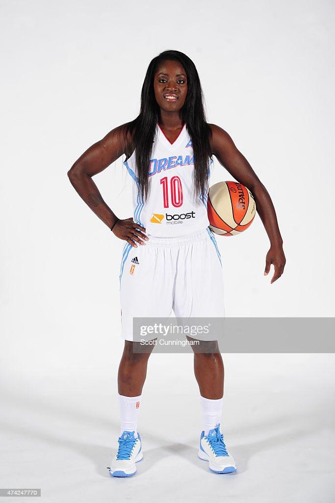 Matee Ajavon of the Atlanta Dream poses for a photograph during WNBA Media Day on May 19 2015 at the Riverside EpiCenter in Austell Georgia NOTE TO...