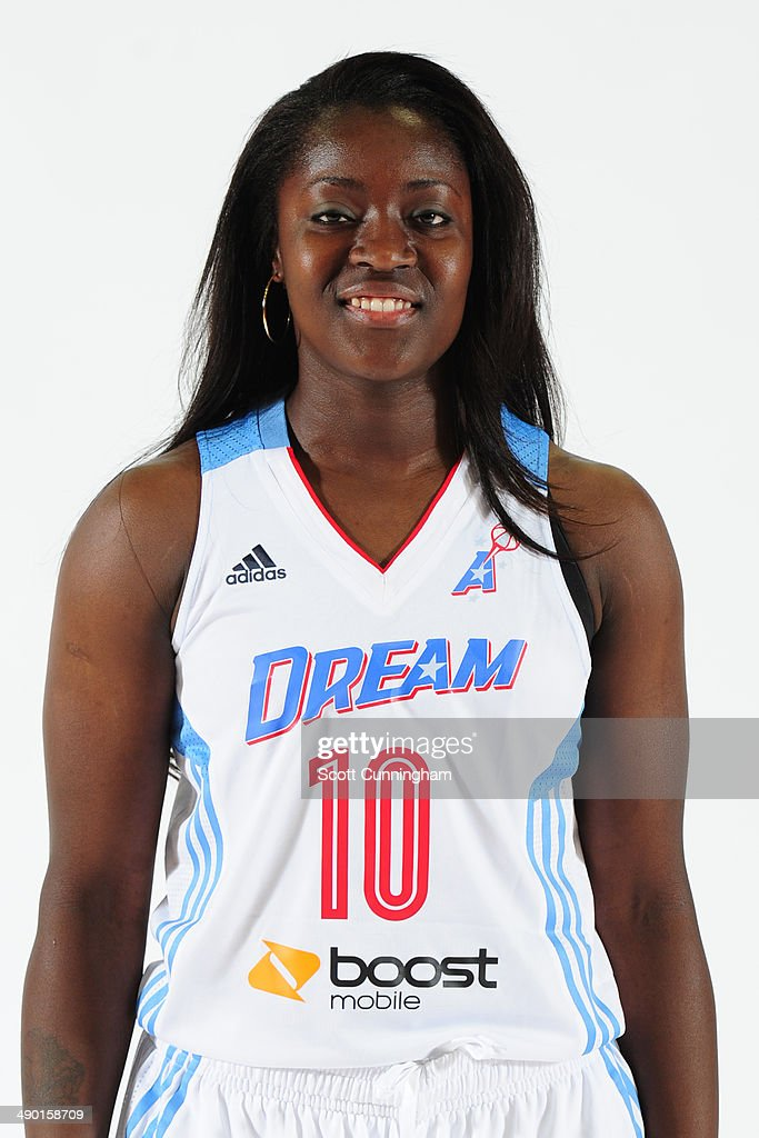 Matee Ajavon of the Atlanta Dream poses for a photograph during WNBA Media Day at Philips Arena on May 9 2014 in Atlanta Georgia NOTE TO USER User...