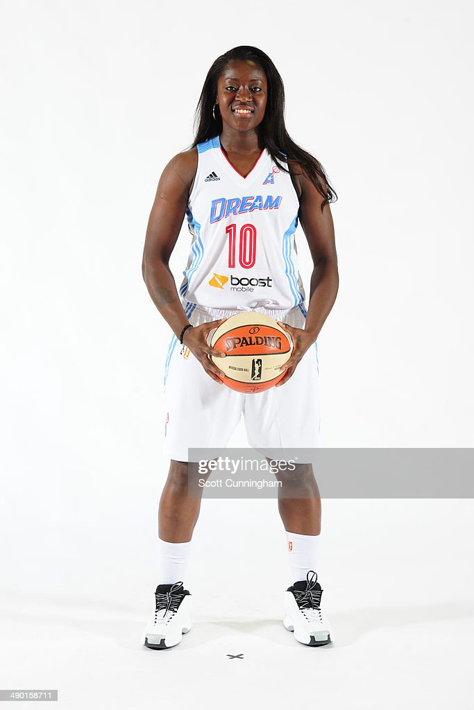 <a gi-track='captionPersonalityLinkClicked' href=/galleries/search?phrase=Matee+Ajavon&family=editorial&specificpeople=2999736 ng-click='$event.stopPropagation()'>Matee Ajavon</a> #10 of the Atlanta Dream poses for a photograph during WNBA Media Day at Philips Arena on May 9, 2014 in Atlanta, Georgia.