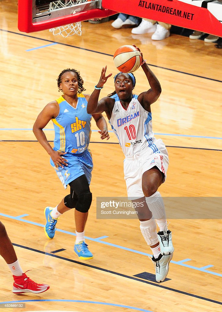 Matee Ajavon of the Atlanta Dream shoots against the Chicago Sky on July 25 2014 at McCamish Pavilion in Atlanta Georgia NOTE TO USER User expressly...