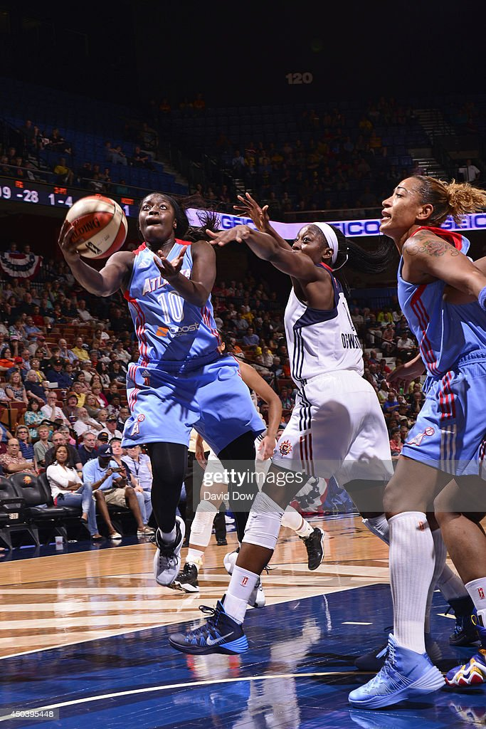 Matee Ajavon of the Atlanta Dream shoots against the Connecticut Sun on June 01 2014 at the Mohegan Sun Arena in Uncasville Connecticut NOTE TO USER...