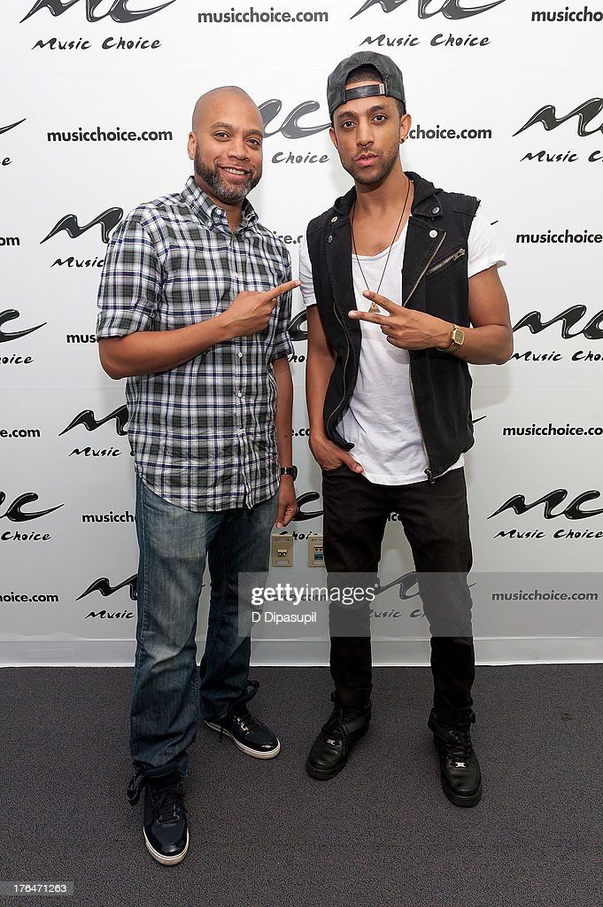 Mateo and Kerry 'Krucial' Brothers visit Music Choice on August 13 2013 in New York City