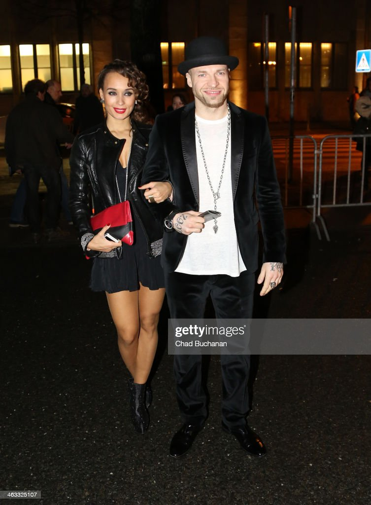 Mateo Jaschik and Coco arrive for the Michalsky Style Night during Mercedes-Benz Fashion Week Autumn/Winter 2014/15 at Tempodrom on January 17, 2014 in Berlin, Germany.