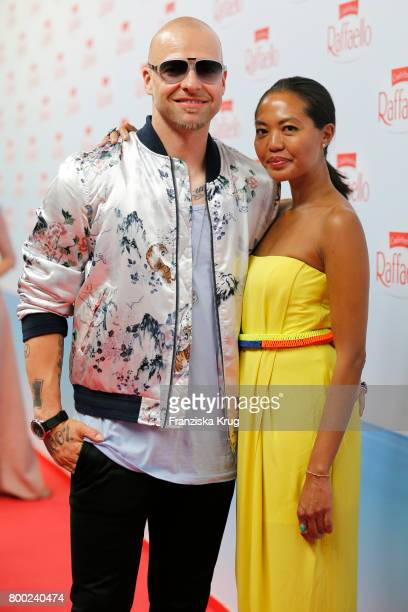 Mateo Jaschik and his girlfriend Tanya Ernst attend the Raffaello Summer Day 2017 to celebrate the 27th anniversary of Raffaello on June 23 2017 in...