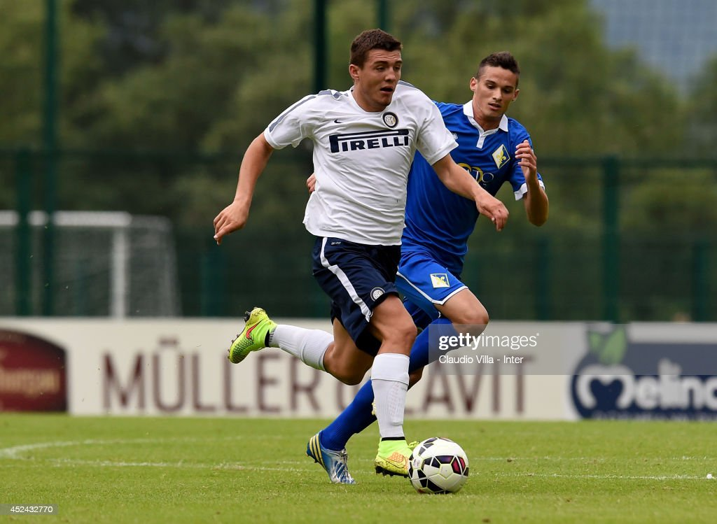 Mateo Kovacic in action during the pre-season friendly match between FC Internazionale and AC Prato on July 20, 2014 in Pinzolo near Trento, Italy.