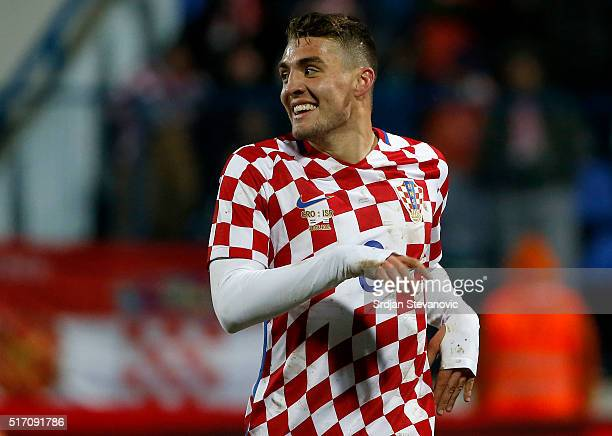 Mateo Kovacic of Croatia smiles during the International Friendly match between Croatia and Israel at stadium Gradski Vrt on March 23 2016 in Osijek...