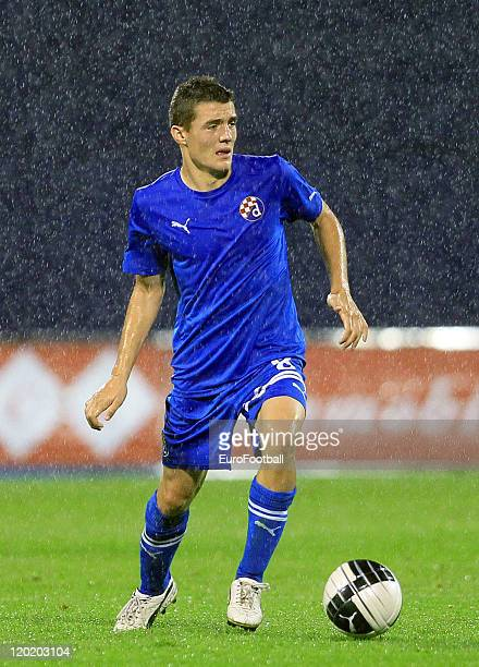 Mateo Kovacic of Dinamo Zagreb in action during the Croatian Prva HNL match between NK Dinamo Zagreb and HNK Cibalia on July 302011 at the Stadion...