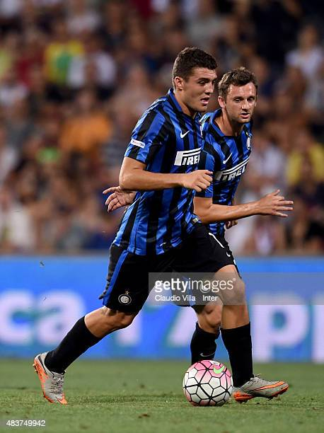 Mateo Kovacic of FC Internazionale in action during the TIM preseason tournament match between FC Internazionale and AC Milan at Mapei Stadium Città...