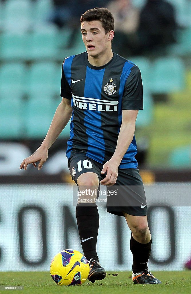 Mateo Kovacic of FC Internazionale Milano in action during the Serie A match between AC Siena and FC Internazionale Milano at Stadio Artemio Franchi on February 3, 2013 in Siena, Italy.