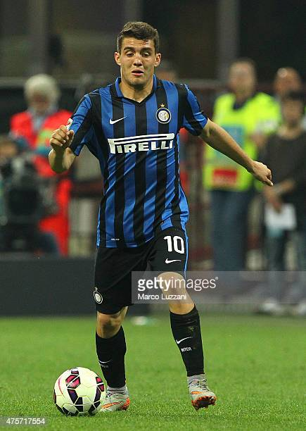 Mateo Kovacic of FC Internazionale Milano in action during the Serie A match between FC Internazionale Milano and Empoli FC at Stadio Giuseppe Meazza...