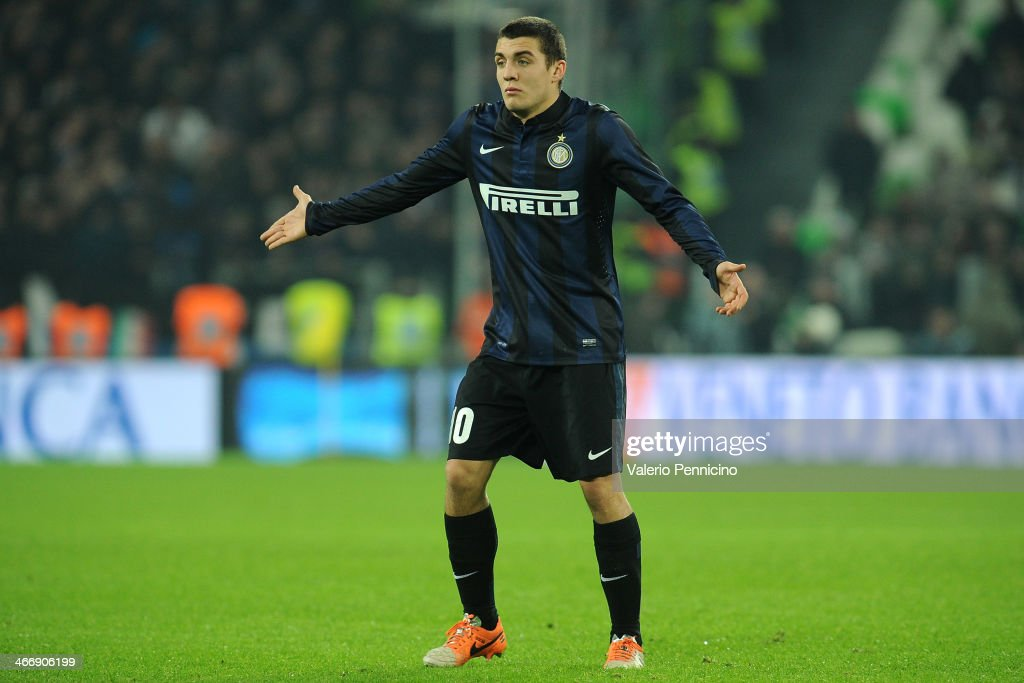Mateo Kovacic of FC Internazionale Milano reacts during the Serie A match between Juventus and FC Internazionale Milano at Juventus Arena on February 2, 2014 in Turin, Italy.