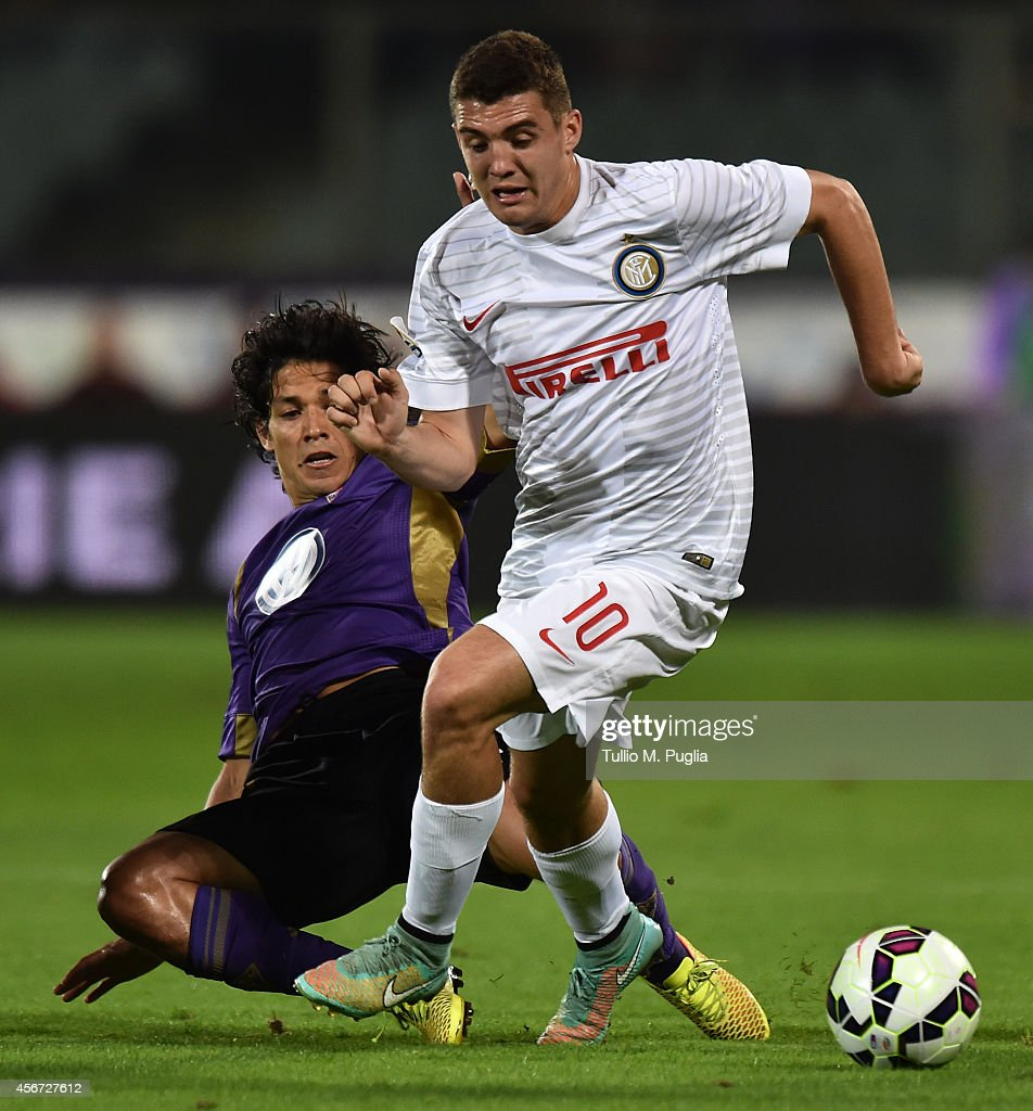 Mateo Kovacic of Inter in action during the Serie A match between ACF Fiorentina and FC Internazionale Milano at Stadio Artemio Franchi on October 5, 2014 in Florence, Italy.
