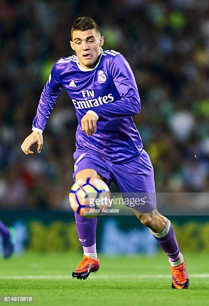Mateo Kovacic of Real Madrid CF in action during the match between Real Betis Balompie and Real Madrid CF as part of La Liga at Benito Villamrin...