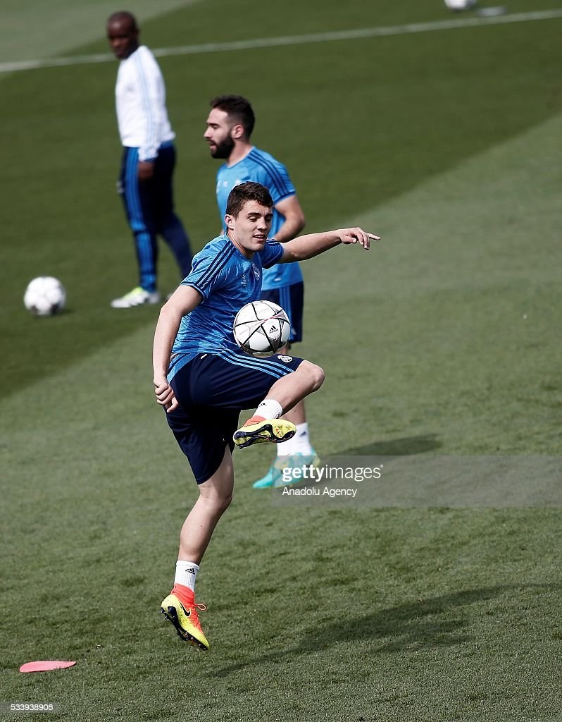 Mateo Kovacic of Real Madrid is seen during the team's training session at the Valdebebas's sports complex in Madrid, Spain on May 24, 2016. Real Madrid will face Atletico Madrid in the 2016 UEFA Champions League final at Guiseppe Meazza stadium in Milan, Italy on May 28, 2016.