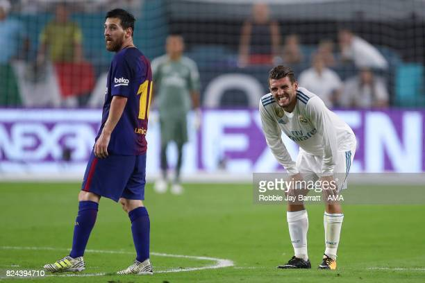 Mateo Kovacic of Real Madrid reacts during the International Champions Cup 2017 match between Real Madrid and FC Barcelona at Hard Rock Stadium on...