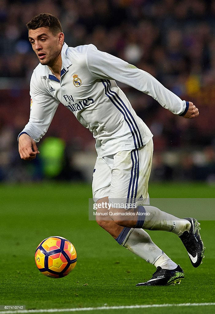 Mateo Kovacic of Real Madrid runs with the ball during the La Liga match between FC Barcelona and Real Madrid CF at Camp Nou stadium on December 03...