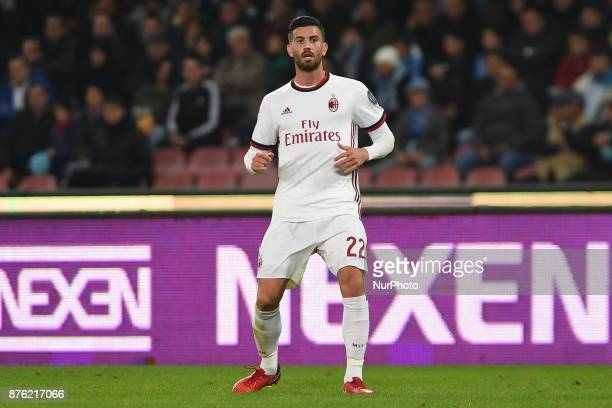 Mateo Musacchio AC Milan during the Serie A TIM match between SSC Napoli and AC Milan at Stadio San Paolo Naples Italy on 18 November 2017