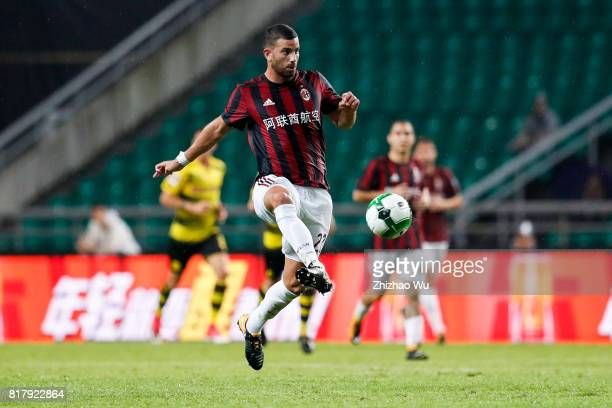 Mateo Musacchio of AC Milan controls the ball at University Town Sports Centre Stadium during the 2017 International Champions Cup match on July 18...
