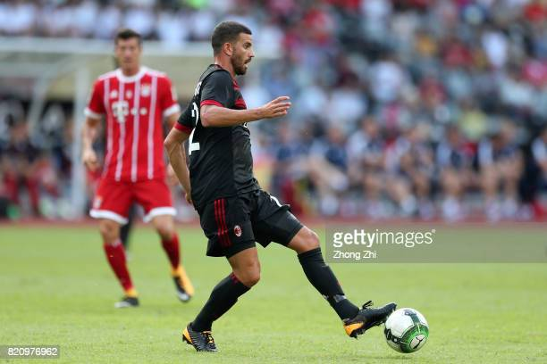 Mateo Musacchio of AC Milan in action during the 2017 International Champions Cup football match between AC Milan and FC Bayern Muenchen on July 22...