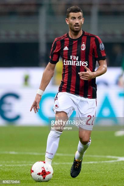 Mateo Musacchio of AC Milan in action during the UEFA Europa League qualifier football match between AC Milan and CSU Craiova AC Milan wins 20 over...