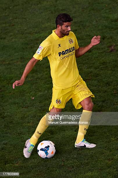 Mateo Musacchio of Villarreal in action during the La Liga match between Villarreal CF and Real Valladolid CF at El Madrigal Stadium on August 24...