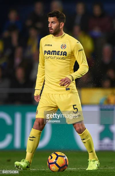 Mateo Musacchio of Villarreal in action during the La Liga match between Villarreal CF and Real Madrid at Estadio de la Ceramica on February 26 2017...
