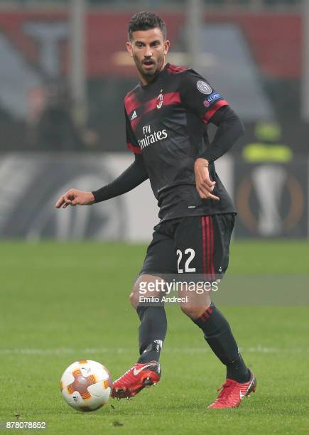Mateo Pablo Musacchio of AC Milan in action during the UEFA Europa League group D match between AC Milan and Austria Wien at Stadio Giuseppe Meazza...